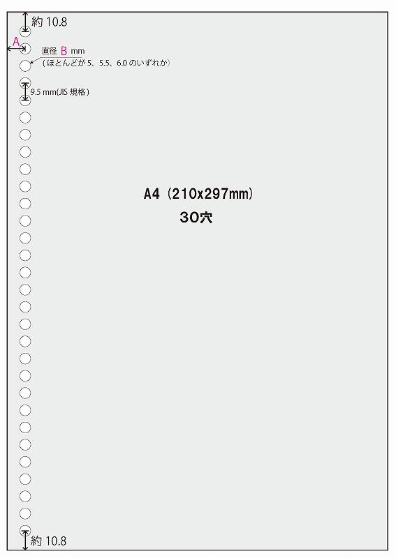 A4 30穴